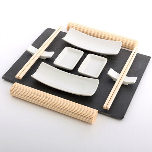 sushi set atopoir noir. Black Bedroom Furniture Sets. Home Design Ideas